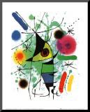 Śpiewająca ryba Umocowany wydruk autor Joan Miró