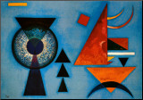 Mjuk hårdhet Print på trä av Wassily Kandinsky