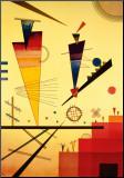 Wassily Kandinsky - Veselá struktura, Merry Structure Reprodukce aplikovaná na dřevěnou desku