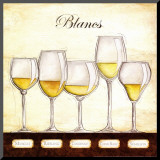 Les Vins Blancs Mounted Print by Andrea Laliberte