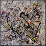 Nummer18, 1950 Druck aufgezogen auf Holzplatte von Jackson Pollock