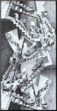 House of Stairs Mounted Print by M. C. Escher