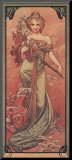 Printemps, 1900 Mounted Print by Alphonse Mucha