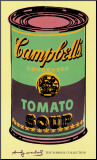 Campbell's Soup Can, 1965 (Green and Purple) Mounted Print by Andy Warhol