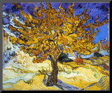 Moerbeiboom, ca. 1889 Kunstdruk geperst op hout van Vincent van Gogh