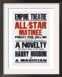 A Novelty, The First in 20 Years, Harry Houdini as a Magician Prints