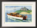 Mathews 46' Enclosed Bridge Deck Cruiser Print by Douglas Donald