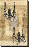 Brocade Sconces Stretched Canvas Print by Pyper Morgan