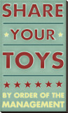 Share Your Toys Stretched Canvas Print by John Golden