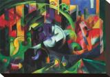 Abstract with Cattle Impressão em tela esticada por Franz Marc