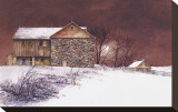 Evening at Knabb Farm Stretched Canvas Print by B. Hendershot