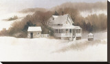 Beckett Farm Stretched Canvas Print by Albert Swayhoover