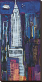 New York Skyline Stretched Canvas Print by Mark Gleberzon