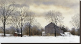 Bucks Winter Stretched Canvas Print by Ray Hendershot