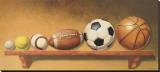 Keep Your Eye on the Ball Impressão em tela esticada por Lisa Danielle