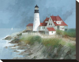 Portland Light, Maine Stretched Canvas Print by Albert Swayhoover