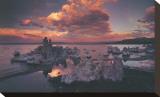 Sinter im Mono Lake, Kalifornien Bedruckte aufgespannte Leinwand von Art Wolfe