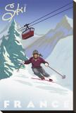Ski France Reproduction transférée sur toile par Kem Mcnair
