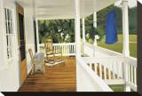 The Porch Opspændt lærredstryk af Kathleen Green