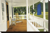 The Porch Stretched Canvas Print by Kathleen Green