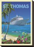 Cruise St. Thomas Stretched Canvas Print by Kem Mcnair