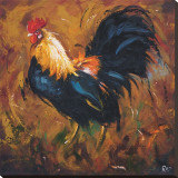 Rooster, no. 502 Stretched Canvas Print by  Roz