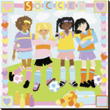Soccer Stretched Canvas Print by Cheryl Piperberg