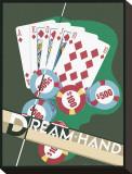 Dream Hand Opspændt lærredstryk af Brian James