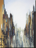Urban Abstract No. 141 Reproduction transférée sur toile par Gregory Lang
