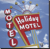 Holiday Motel Reproduction transf&#233;r&#233;e sur toile par Anthony Ross
