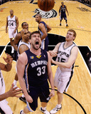 Memphis Grizzles v San Antionio Spurs - Game One, San Antonio, TX - April 17: Marc Gasol Photographic Print