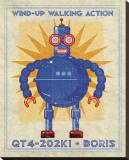 Boris Box Art Robot Stretched Canvas Print by John Golden