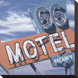 66 Motel Reproduction transf&#233;r&#233;e sur toile par Anthony Ross