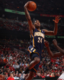 Indiana Pacers v Chicago Bulls - Game Two, Chicago, IL- April 18: Paul George Photographic Print