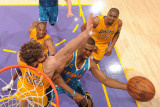 New Orleans Hornets v Los Angeles Lakers - Game Two, Los Angeles, CA - April 20: Chris Paul and Pau Photographic Print