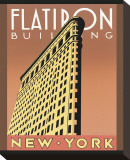 Flatiron Building Opspændt lærredstryk af Brian James