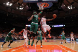 Boston Celtics v New York Knicks - Game Four, New York, NY - April 24: Toney Douglas and Jermaine O Photographic Print