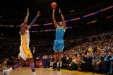 New Orleans Hornets v Los Angeles Lakers - Game One, Los Angeles, CA - April 17: Trevor Ariza and L Photographic Print