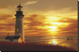 Lighthouse at Sunset Stretched Canvas Print by Carlos Casamayor