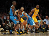 New Orleans Hornets v Los Angeles Lakers - Game Five, Los Angeles, CA - April 26: Chris Paul, Emeka Photographic Print