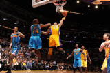 New Orleans Hornets v Los Angeles Lakers - Game Five, Los Angeles, CA - April 26: Kobe Bryant and C Photographic Print