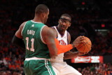 Boston Celtics v New York Knicks - Game Four, New York, NY - April 24: Amar'e Stoudemire and Glen D Photographic Print