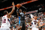 Orlando Magic v Atlanta Hawks - Game Four, Atlanta, GA - April 24: Dwight Howard, Kirk Hinrich and  Photographic Print