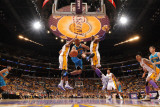 New Orleans Hornets v Los Angeles Lakers - Game One, Los Angeles, CA - April 17: Jarrett Jack, Andr Photographic Print