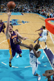 Los Angeles Lakers v New Orleans Hornets - Game Four, New Orleans, LA - April 24: Pau Gasol and Eme Photographic Print