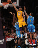 New Orleans Hornets v Los Angeles Lakers - Game Two, Los Angeles, CA - April 20: Kobe Bryant, Emeka Photographic Print