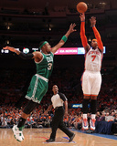 Boston Celtics v New York Knicks - Game Four, New York, NY - April 24: Carmelo Anthony and Paul Pie Photographic Print