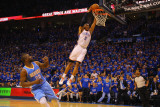 Denver Nuggets v Oklahoma City Thunder - Game One, Oklahoma City, OK - April 17: Russell Westbrook  Photographic Print