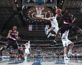 Portland Trailblazers v Dallas Mavericks - Game Five, Dallas, TX - April 25: Andre Miller and Tyson Photographic Print