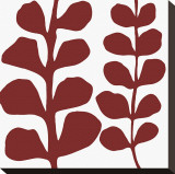 Maidenhair (red on white) Stretched Canvas Print by Denise Duplock